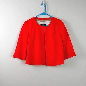 J.CREW Baird McNutt Bright Red/Orange Linen Blazer